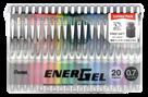 Pentel EnerGel BL77 Gelový roller 0,7 mm - sada 20 barev