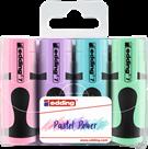 Edding 7/4S mini Zvýrazňovače, sada 4 pastelových barev
