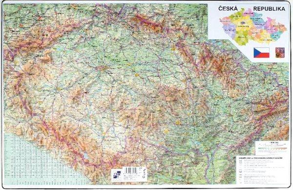 PP Psací podložka na stůl 60x40 - mapa ČR + Evropa