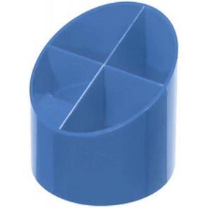 Herlitz Stojánek na pera plastový kulatý 4 přihrádky - baltická modrá