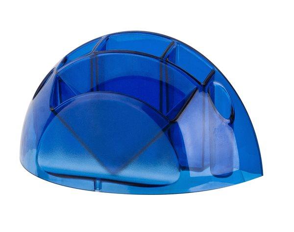 ICO Držák na psací potřeby - modrý transparentní