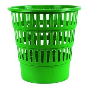 Odpadkový koš perforovaný PP 16 l - zelený