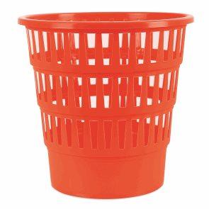Odpadkový koš perforovaný PP 16 l - oranžový