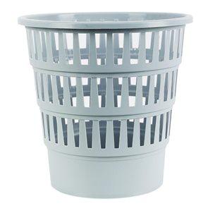 Odpadkový koš perforovaný PP 16 l - šedý