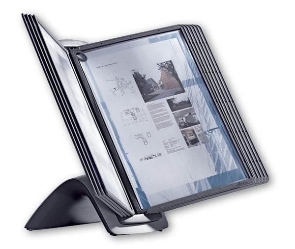 Durable SHERPA STYLE TABLE 10 Stojan na stůl s 10 rámečky A4 - černá, Doprava zdarma