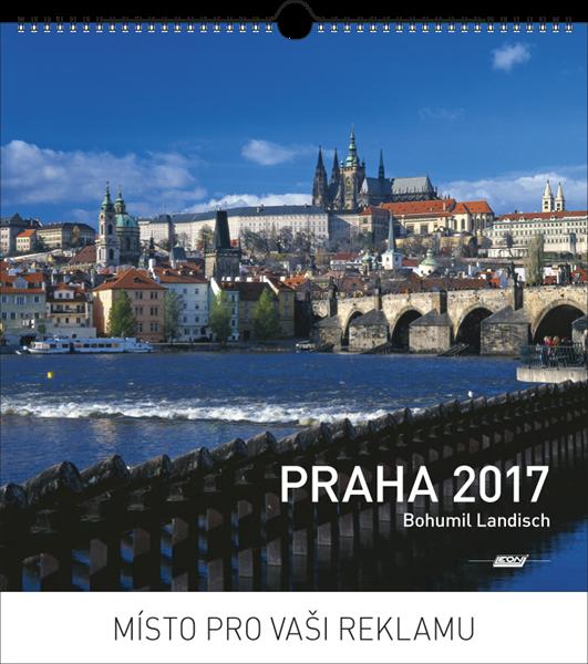 Kalendář nástěnný 2017 - Praha foto - 33,5x32,5 cm