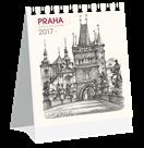 Kalendář stolní 2017 - Praha grafika micro