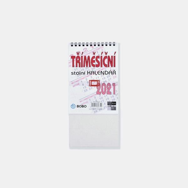 BOBO Kalendář stolní 2021 tříměsíční - 110 × 156 mm