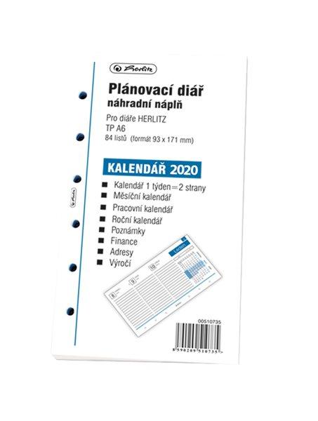 Herlitz Náplň do diáře A6, 84 listů, TP česká 2020