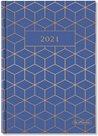 Herlitz Diář 2021 A5 týdenní - GEOMETRIC modrý