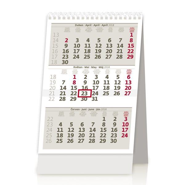 Kalendář stolní 2018 - MINI tříměsíční - 11x16 cm