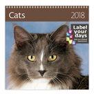 Kalendář nástěnný 2018 Label your days - Cats