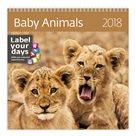 Kalendář nástěnný 2018 Label your days - Baby Animals