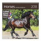 Kalendář nástěnný 2018 Label your days - Horses