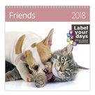 Kalendář nástěnný 2018 Label your days - Friends