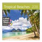 Kalendář nástěnný 2018 Label your days - Tropical Beaches