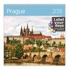 Kalendář nástěnný 2018 Label your days - Prague