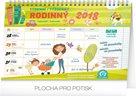 Rodinný plánovací kalendář 2018 s háčkem 30 x 21 cm