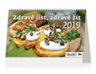 Kalendář stolní 2019 - Zdravě jíst, zdravě žít