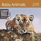 Kalendář nástěnný 2019 Label your days - Baby Animals