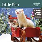Kalendář nástěnný 2019 Label your days - Little Fun