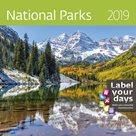 Kalendář nástěnný 2019 Label your days - National Parks