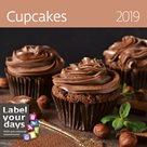 Kalendář nástěnný 2019 Label your days - Cupcakes