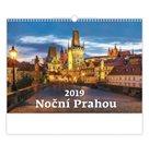 Kalendář nástěnný 2019 - Noční Prahou