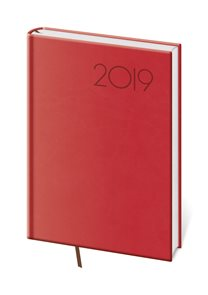 Diář 2019 denní A5 Print - červená
