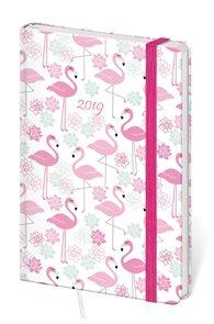 Stil Diář 2019 LYRA A6 týdenní s gumičkou - Flamingo / plameňáci