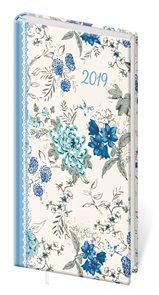 Stil Diář 2019 LYRA A6 týdenní - Flower / květiny