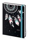 Stil Diář 2020 LYRA A5 denní s gumičkou - Feathers