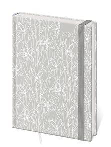 Stil Diář 2020 LYRA A5 denní s gumičkou - Flowers