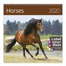 Kalendář nástěnný 2020 Label your days - Horses
