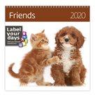 Kalendář nástěnný 2020 Label your days - Friends