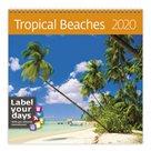 Kalendář nástěnný 2020 Label your days - Tropical Beaches