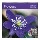 Kalendář nástěnný 2020 Label your days - Flowers