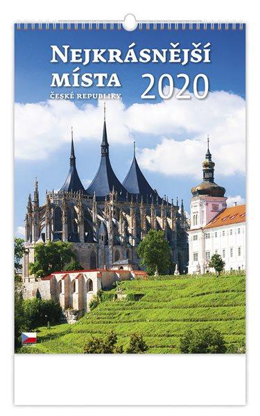 Kalendář nástěnný 2020 - Nejkrásnější místa ČR