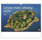 Kalendář nástěnný 2020 - Česko mezi oblaky