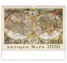 Kalendář nástěnný 2020 - Antique Maps