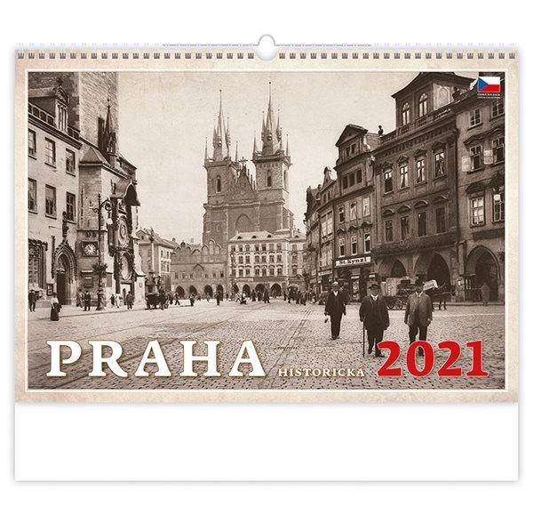 Kalendář nástěnný 2021 - Praha historická - 45x31,5 cm