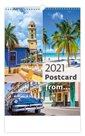 Kalendář nástěnný 2021 - Postcard from....