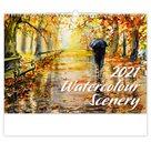 Kalendář nástěnný 2021 - Watercolour Scenery