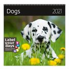 Kalendář nástěnný 2021 Label your days - Dogs
