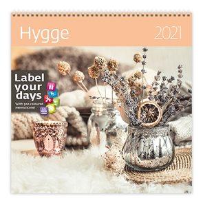 Kalendář nástěnný 2021 Label your days - Hygge