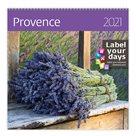 Kalendář nástěnný 2021 Label your days - Provence