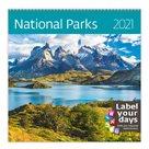 Kalendář nástěnný 2021 Label your days - National Parks