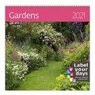 Kalendář nástěnný 2021 Label your days - Gardens