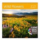 Kalendář nástěnný 2021 Label your days - Wild Flowers