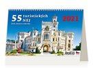 Kalendář stolní 2021 - 55 turistických nej Čech, Moravy a Slezska
